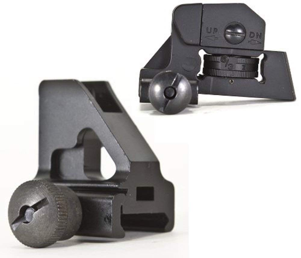 Green Blob Outdoors Front and Rear Iron Sights Set Picatinny 20mm Rail for Flat Top Rails by Green Blob Outdoors