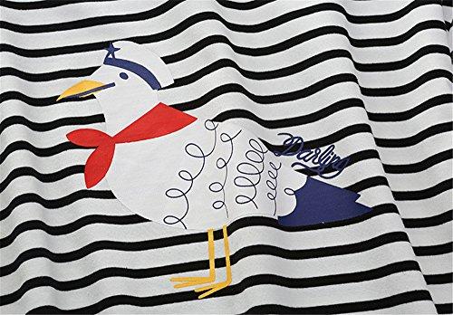 Manica Taglie Forti Tops T Corta Comoda Lungo Cotone Premaman Maglietta Stampa Shirt Gravidanza Moda Donna Camicetta Popolare Black Strisce Estive ELEKIKIL UqwxIYfTn