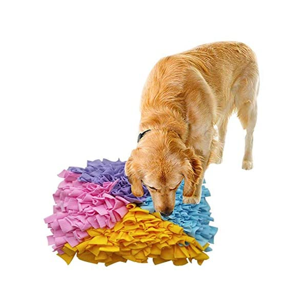 Dog Snuffle Mat Large,Small Big Dog Feeding Mat Training Pad Pet Nose Work Blanket Non Slip Pet Activity Mat for Foraging Skill, Stress Release(4545cm) 1