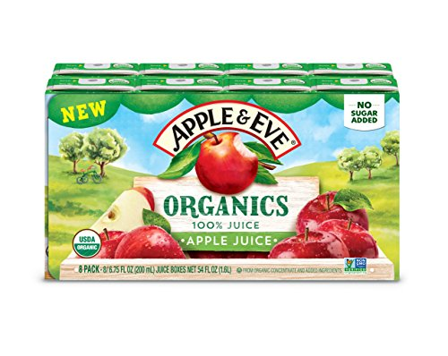 Apple & Eve 100% Organic Apple Juice, 40 Count (Kids Organic Juice Boxes)