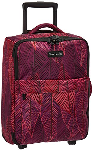 Vera Bradley Women's Small Foldable Polyester Twill Roller, Banana Leaves Fuchsia (Vera Bradley Wheeled Luggage)