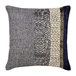 Sequins Embellished Pearl Patchwork Decorative Pillow Covers