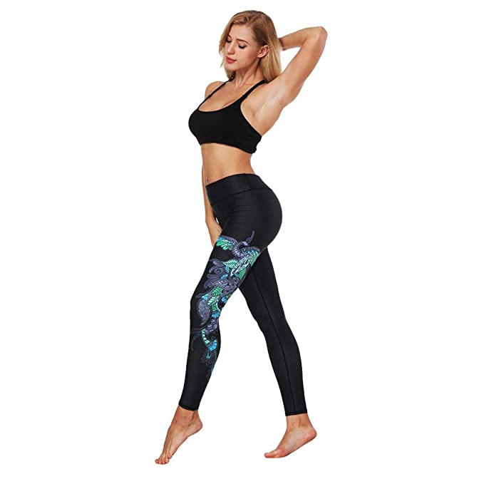 Amazon.com: Zcxaa Soft Womens Yoga Leggings Fitness Sports ...