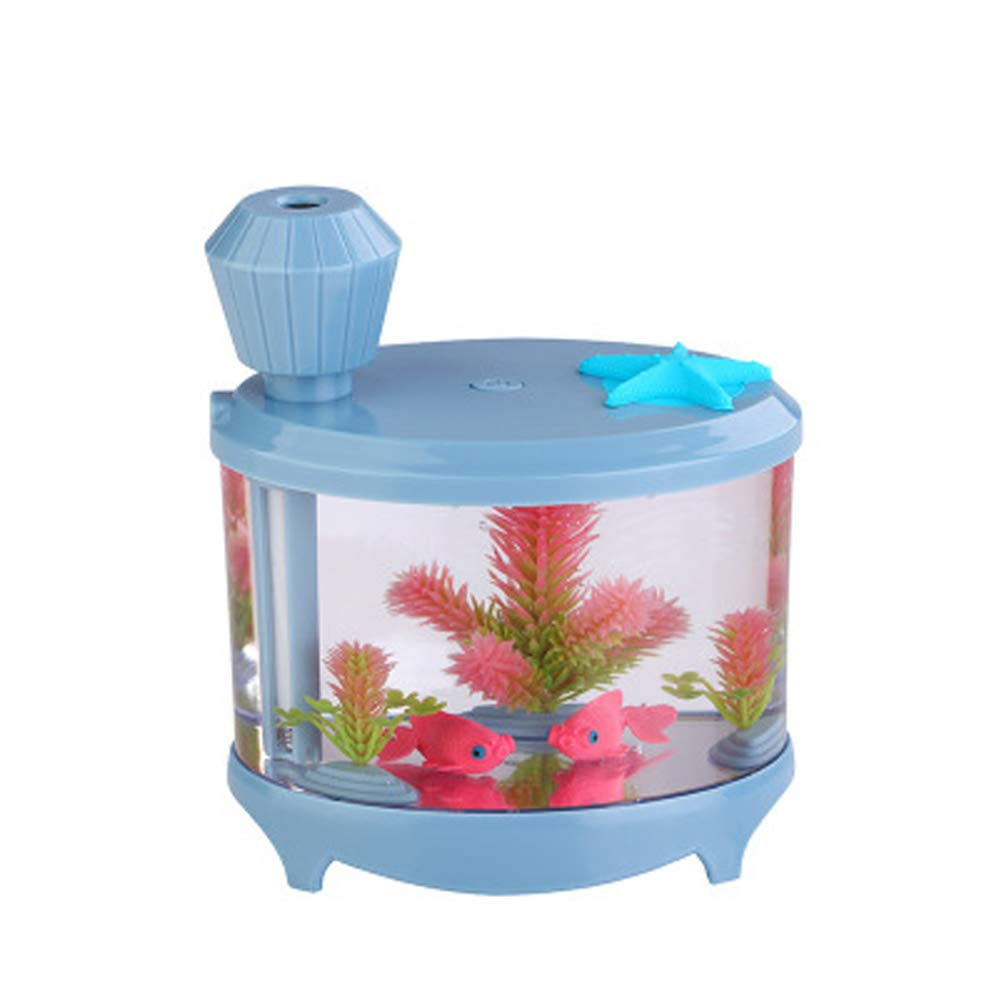 bluee Living Room Office Fish Tank Aquarium Decorations Desktop Ceramic Fountain Ornaments Bonsai humidifier Water Ornaments Gifts-bluee