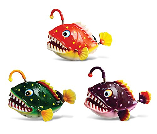 Puzzled Angler Fish Refrigerator Bobble Magnet (Set of 3)