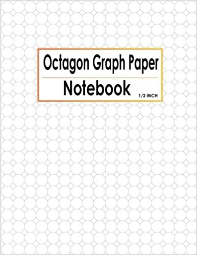 Octagon Graph Paper Notebook 1/2 Inch: Spiral Graphing Composition ...