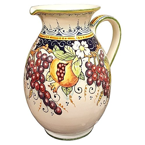 CERAMICHE D'ARTE PARRINI - Italian Ceramic Art Pottery Vase Jar Vessel Pitcher Vino Vine Hand Painted Made in ITALY (Painted Pottery Vase)