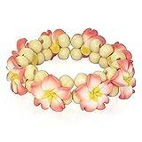 Fashion Alloy Polymer Clay Hawaiian Flowers Beaded Stretch Bracelet