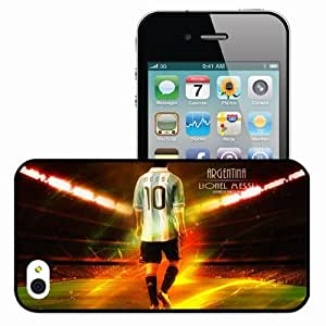 Personalized iPhone 4 4S Cell phone Case/Cover Skin 2013 lionel messi Black