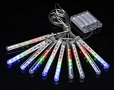 Fantado Battery Operated LED Meteor Snowfall Light Tubes - RGB by PaperLanternStore