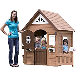 Backyard Discovery Aspen All Cedar Outdoor Wooden Playhouse