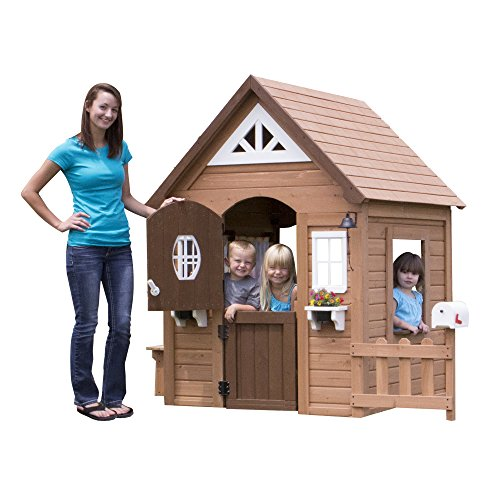spen All Cedar Outdoor Wooden Playhouse (Discovery Playhouse)