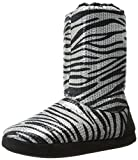 Blazin Roxx Women's Metallic Zebra Slipper Booties Silver Medium US