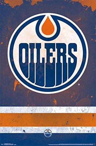 Trends International Edmonton Oilers Logo Wall Poster