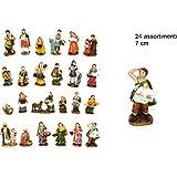 12 PZ statuine pastorelli alta qualità 7CM PERSONAGGI PRESEPE PASTORI #PIN17