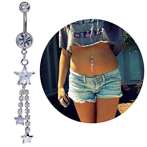 Gold Plated Stainless Steel Belly Button Ring - 9