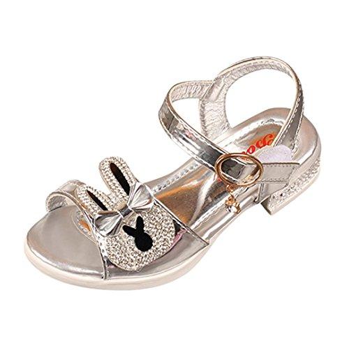 Transer Infant Kinder Mädchen Kaninchen Bowknot Kristall Bunny Sandalen Prinzessin Anhänger Lässig Starke Ferse Schuhe Sl