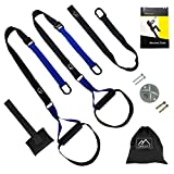 OMESICS Resistance Straps Trainer Kit Fitness Bodyweight Strength Training Bundle with Wall Mount Set Exercise Straps for Home Gym Outdoor Workouts