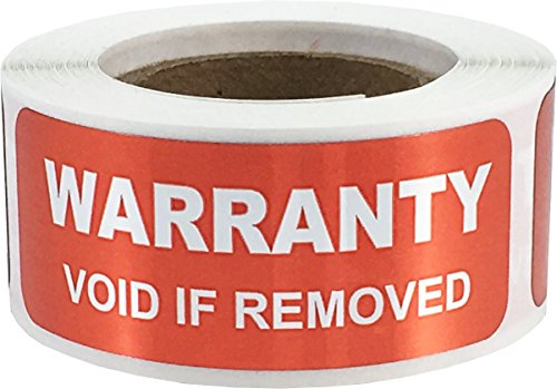 (Warranty Void If Removed Labels Tamper Evident .75 x 2 Inch Rectangles 100 Total Stickers)