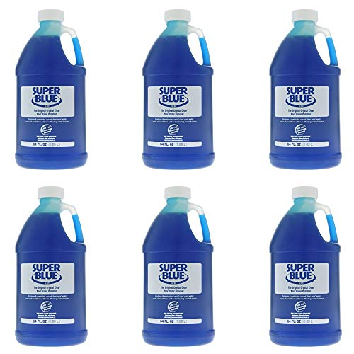 Robarb 20155A Super Blue Crystal Clear Pool Water Polisher Clarifier, 1/2 Gallon (6 Pack)