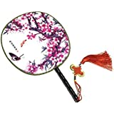 Attractive Chinese Round Fan Classical Dancing Dan With Beautiful Pattern, #16
