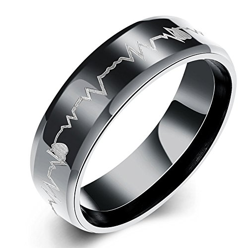 Yellow Chimes Heartbeat Love Message Stainless Steel Ring for Girls and Boys (B077P5HDNR) Amazon Price History, Amazon Price Tracker