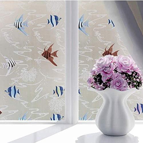 ガラスフィルム窓フィルム曇り不透明ガラス窓フィルム用窓プライバシーガラスステッカー家の装飾混合色寝室ワイド、90×150センチ