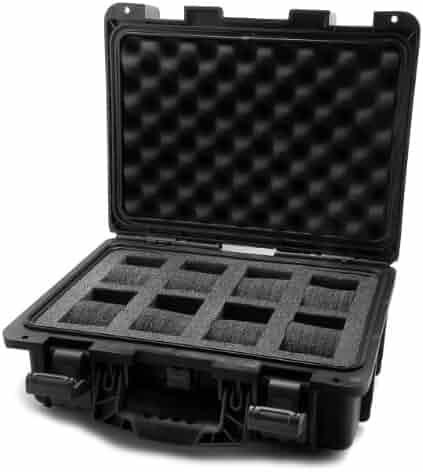 Invicta IG0098-SLC8S-B 8 Slot Black Plastic Watch Box Case
