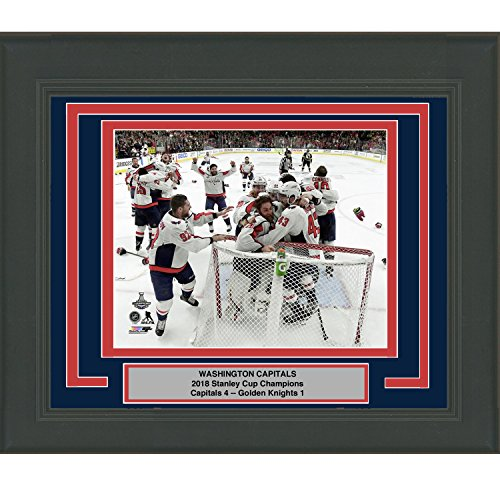 Photo Champions 3 (Framed Washington Capitals Team 2018 Stanley Cup Champions 8x10 Hockey Photo Professionally Matted #3)