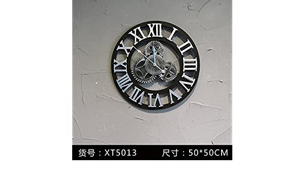 Amazon.com: Y-Hui Industrial Air Decorative Wall Clock Gear Bars And Coffee Shops And Network Gear In Table 19 Inch ,Xt5013: Home & Kitchen