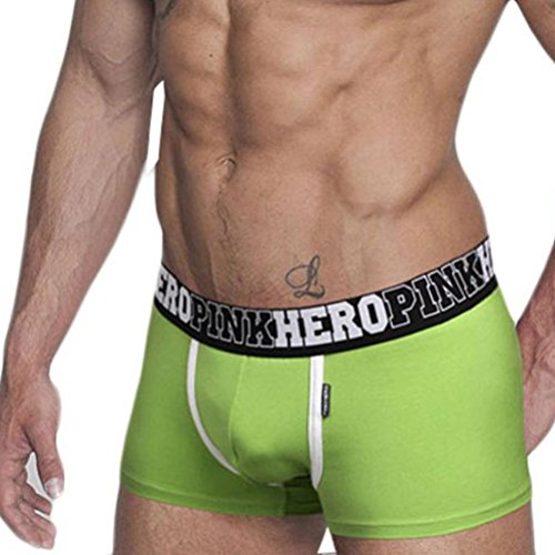 Men's Underwear,Neartime Classic Briefs Full Briefs Men Boxers Male Shorts (L, Green) (Sexy Costumes For Guys)