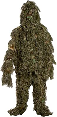 Modern Warrior Woodland and Forest Design Ghillie Suit, 3-Piece, One Size Fits All Children