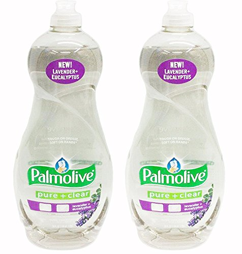 Palmolive Ultra Dishwashing Liquid, Pure and Clear Plus Lavender, 38 Ounce (Pack of 2) (Plus Dishwashing Liquid)