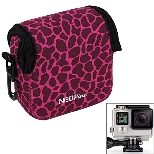 (#53) Leopard Waterproof Housing Neoprene Inner Protective Bag Camera Pouch for compatible with : Gopro HERO5/ 4 /3+ /3 /2 ()