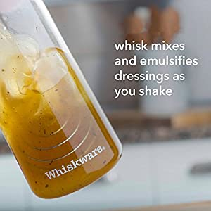 Whiskware Salad Dressing Shaker with BlenderBall Wire Whisk, Tritan