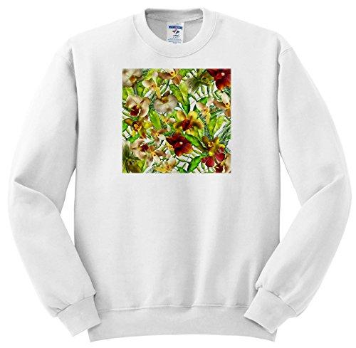 Uta Naumann Pattern - Aloha colorful Orchid Flower Jungle Tropical Floral Hawaii Pattern - Sweatshirts - Youth Sweatshirt Large(14-16) (SS_268924_12)