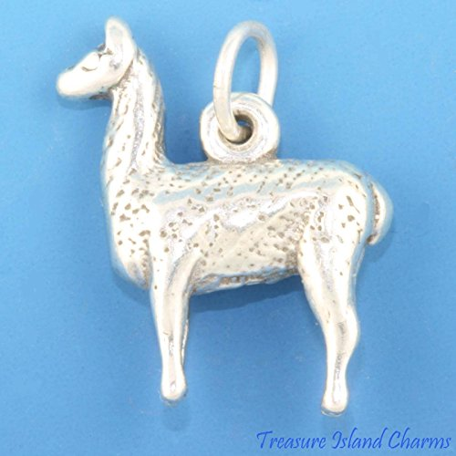 LLAMA ALPACA 3D Lama .925 Solid Sterling Silver Charm Pendant MADE IN USA Jewelry Making Supply Pendant Bracelet DIY Crafting by Wholesale Charms