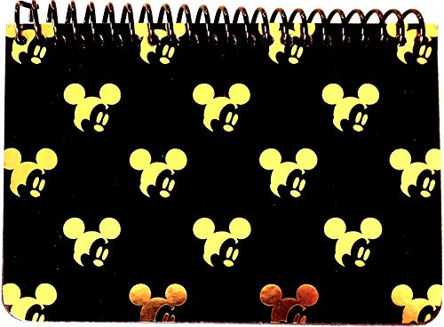 Disney Mickey Mouse Black Spiral Autograph Book - Gold (SMALLHEAD)