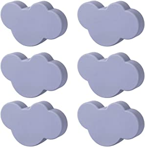 Mayplus 10Pcs Cartoon Cloud Shape Cabinet Knobs for Cabinets, Drawer, Dresser, Doors, Kitchen Cabinets and Cupboards with Screws, for Kids Room(S 6pcs,Grey)