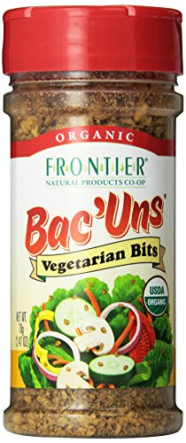 Bacuns Bacon - Frontier Vegetarian Bits Bac'uns Certified Organic, 2.47 Ounce Bottle (Pack of 6)