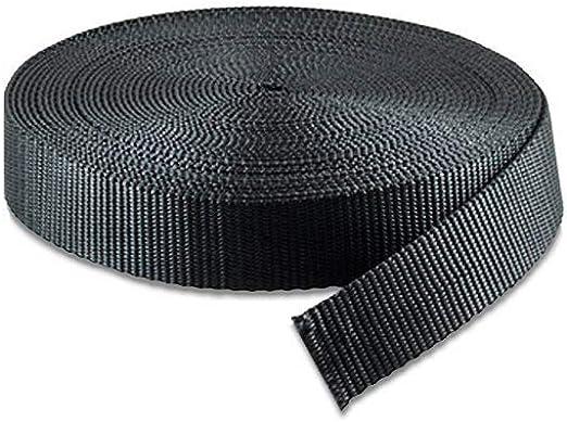 32MM, 10 Yards RETON Black Nylon Heavy Polypro Webbing Straps