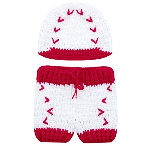 amazingdeal Newborn Photography Prop, Baby Girls Boys Baseball Crochet Knit (Girl Baseball Halloween Costume)