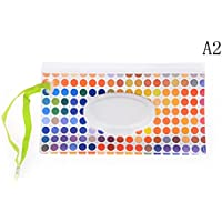 1Pcs Wet Wipe Pouch, Travel Wipes Case Reusable Refillable Wet Wipe Bag Travel Wipes Dispenser Wipe Pouches Baby Wet…
