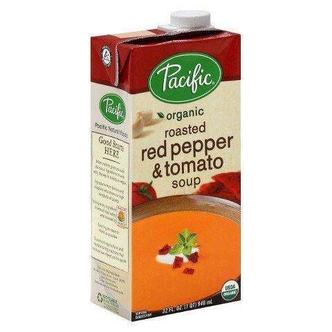 Pacific Organic Soup, Roasted Red Pepper & Tomato, 32 Oz. (Pack of 6)