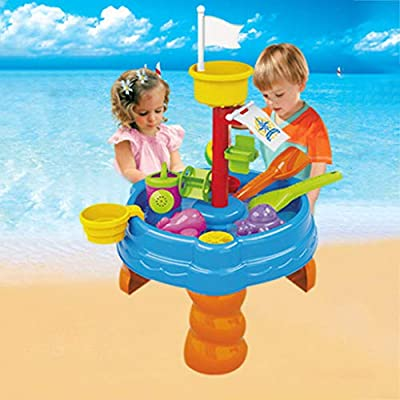 Sturrly Seas Water Table | Kids Water Table with Sand & Water Table Watering Can & Spade Kids Outdoor Garden Sandpit Toy Set (C): Toys & Games