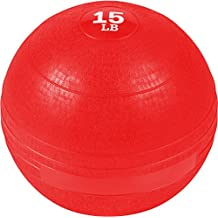 Trademark Innovations Exercise Slam Medicine Ball, Red, 15-Pound