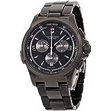 Victorinox Men's 'Night Vision' Swiss Quartz Titanium and Stainless Steel Casual Watch, Color:Black (Model: 241730