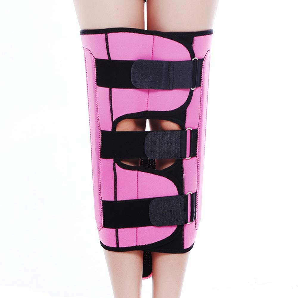 Leg Straightener Straps To Correct O/X Type Leg Correction Belt Band Beauty Leg Straighten Tape Bandage Adjustable Double Belt Strap Fixing (Color : Pink, Size : L)