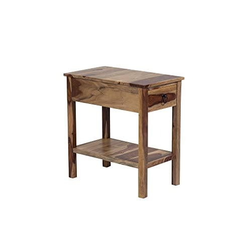Porter Designs Sheesham Accents End Table, Natural
