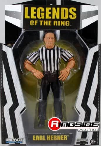 REFEREE EXCLUSIVE EARL HEBNER - RINGSIDE COLLECTIBLES DELUXE EXCLUSIVE TNA IMPACT JAKKS TOY WRESTLING ACTION FIGURE by Wrestling